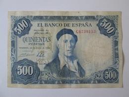 Spain 500 Pesetas 1954 Banknote - [ 3] 1936-1975 : Regency Of Franco