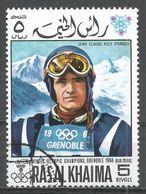 Ras Al Khaima 1968. Michel #352 (U) Gold Winner, Downhill, Jean-Claude Killy (Fra) - Ras Al-Khaima