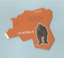 COLLECTION BROSSARD MAGNET CARTE Afrique Le Gorille - Animals & Fauna