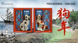 Aland - 2017 - Lunar New Year Of The Dog - China Dogs - Mint Souvenir Sheet - Aland