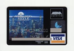 MBNA USA Chicago VISA Expired 2004 - Cartes De Crédit (expiration Min. 10 Ans)