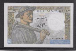 France 10 Francs Mineur 13-1-1944 - Fayette N°8-10 - Neuf - 1871-1952 Anciens Francs Circulés Au XXème