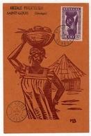 !!! PRIX FIXE : CARTE MAXIMUM DU SENEGAL CACHET DE ST LOUIS 1946 - Sénégal (1887-1944)