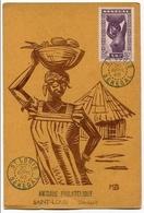 !!! PRIX FIXE : CARTE MAXIMUM SENEGAL CACHET DE ST LOUIS 1940 - Sénégal (1887-1944)