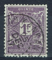 French Guinea, Postage Due, 1f., 1914, VFU  Superb Postmark From KANKAN - Guinée Française (1892-1944)