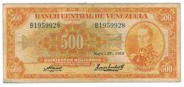 Venezuela 500 Bs. 1958. VF. - Venezuela