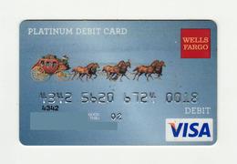 Weels Fargo USA Retro Platinum VISA Expired 2002 - Geldkarten (Ablauf Min. 10 Jahre)