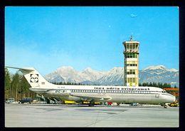Inex Adria Airways DC-9 Series 30 / Postcard Not Circulated, 2 Scans - Flugzeuge