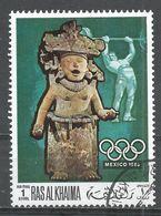 Ras Al Khaima 1968. #D (U) Summer Olympics, Mexico City, Weight Lifting, Figurine - Ras Al-Khaima