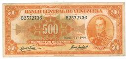 Venezuela 500 Bs. 1960. VF. - Vietnam
