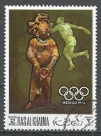Ras Al Khaima 1968. #E (U) Summer Olympics, Mexico City, Discus, Figurine - Ras Al-Khaima