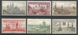 Czechoslovakia,Beauty Of Our Country-Cities 1957.,MNH - Ungebraucht