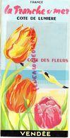 85- LA TRANCHE SUR MER - DEPLIANT TOURISTIQUE COTE DE LUMIERE-VENDEE-SYNDICAT INITIATIVE PLACE EGLISE-1964-TARIFS HOTELS - Dépliants Touristiques