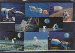 BHOUTAN  :  Série Espace Apollo XI   244 à 251  Non Dentelé  Neuf - Bhutan