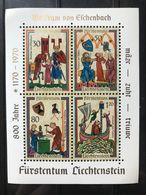 Liechtenstein - Foglietto 8o Centenario Della Nascita DI Wolfram Von Eschenbach- 1970 - MNH ** - Blocchi & Fogli