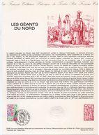 - Document Philatélique Officiel DOUAI & LILLE 16.2.1980 - LES GEANTS DU NORD - - FDC