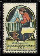 German Poster Stamp, Stamps, Reklamemarke, Cinderellas, Baby, Teddy Bear, Mother, Zoo, Baby, Teddybär, Mutter, Zoo, - Cinderellas