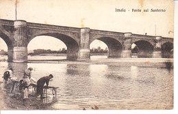 ITALIA - IMOLA - Ponte Con Lavandaie Sul Santerno, Animata, Viag.1917 - 2018-334 - Imola