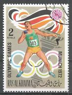 Ras Al Khaima 1972. #I (U) Summer Olympics, Munich, Shut Pot - Ras Al-Khaima