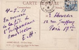 FRANCE  : N° 151 . CP . TB . 1918 . - Postmark Collection (Covers)