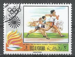 Ras Al Khaima 1972. #J (U) Summer Olympics, Munich, Runners - Ras Al-Khaima