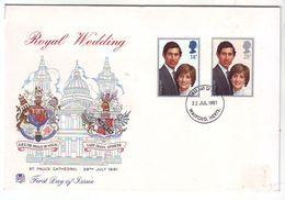 1981 - FDC ROYAL WEDDING - FDC