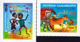 Georgia - 2016 - Georgian Fairy Tale Characters - Mint Self-adhesive Stamp Set - Georgia