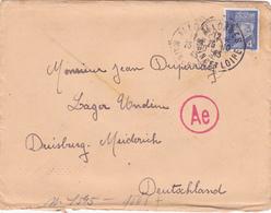 COURRIER Lettre PUB Agricole ALLEMAGNE Duisburg 25/10/1943 PETAIN 3° Reich WW2 - Duperray ALLONNES (dpt 49) Cachet Ae - Duitsland