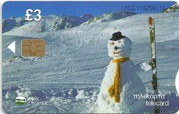 Cyprus - Cyta - Chip - Christmas 2003 Snowman - 12.2003, 45.000ex, Used - Cyprus