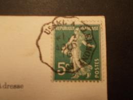 Marcophilie  Cachet Lettre Obliteration - Convoyeur Ussel à Clermont Fd - 1916 (1707) - Postmark Collection (Covers)