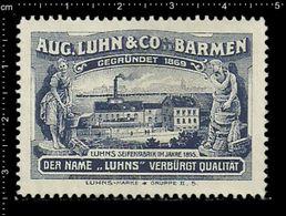 German Poster Stamp, Stamps, Reklamemarke, Cinderellas, Barmen, Luhns, Kinder Seife, Kids Soap, - Erinnophilie