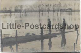 Foto AK Frelinghien Überschwemmung Feldpost 1914 Geflutetes Land - Weltkrieg 1914-18