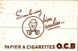 BUVARD  PAPIER A CIGARETTES O.C.B - Tobacco