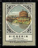 German Poster Stamp, Stamps, Reklamemarke, Cinderellas, Castel Sant'Angelo, Rome, Rom, Engelsburg - Erinnophilie