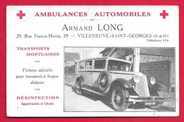 CPA Villeneuve Saint-Georges - Rue Francis Martin - Ambulances Automobiles Armand Long - Villeneuve Saint Georges