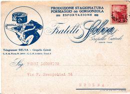 E36 - Cartolina Postale Pubblicitaria - Del 24 Dicembre 1946  Da Gropello Cairoli A  Modena Con Lire 3 Rosso - 5. 1944-46 Lieutenance & Umberto II