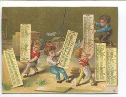 CHROMO CALENDRIER DORÉ ALFRED CLAREY 1881  OUVRIER TRAVAIL CONSTRUCTION MENUISERIE ? - Calendriers