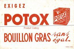 BUVARD  POTOX PRODUIT LIEBIG - Sopas & Salsas