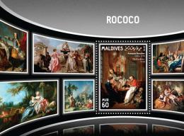 MALDIVES 2016 ** Rococo Boucher S/S - OFFICIAL ISSUE - A1643 - Künste