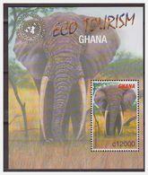 1117 Ghana 2002 Olifant Elephant ECO Tourism S/S MNH - Elephants