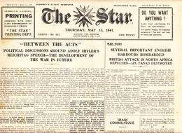 Guernsey Newspaper May 15 1941 (Original) - War 1939-45