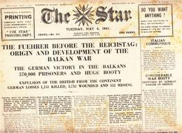 Guernsey Newspaper May 6 1941 (Original) - War 1939-45