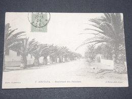 FRANCE - Semeuse Lignée Avec Oblitération D'Algérie Sur Carte Postale - P 22570 - 1906-38 Semeuse Camée