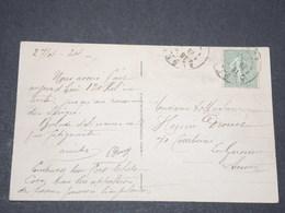 FRANCE - Semeuse Lignée Avec Oblitération D'Algérie Sur Carte Postale - P 22571 - 1906-38 Semeuse Camée