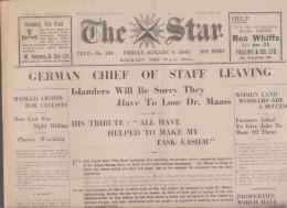 Guernsey Newspaper August 23 1940 (Original) - War 1939-45
