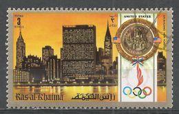Ras Al Khaima 1972. #M (U) Summer Olympics, Munich, Gold Medal, U.N. Building, New York - Ras Al-Khaima