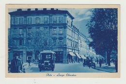POLA - LARGO OBERDAN - VIAGGIATA 1939 - ANIMATA CON MACCHINE D'EPOCA - POSTCARD - Croazia