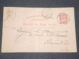 NORVEGE - Entier 10 Ore Pour Bruxelles - 1897 - P 22578 - Entiers Postaux