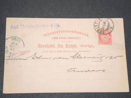 NORVEGE - Entier 10 Ore Pour Anvers - 1896 - P 22580 - Entiers Postaux