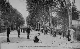 13 SAINT ANDIOL  LE JEU DE BOULES ROUTE NATIONALE - France